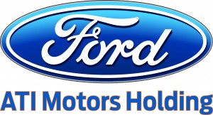 Logo Ford + AMH scris jos